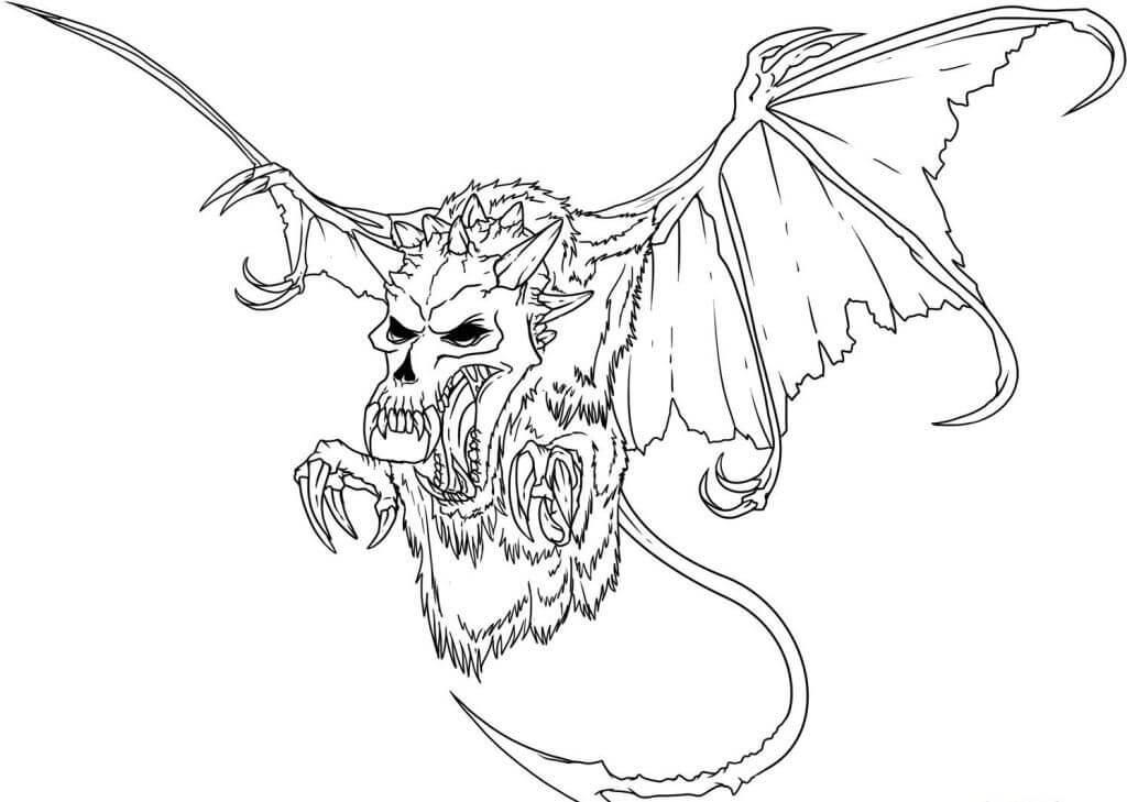 Desenhos de Esqueleto De Morcego para colorir