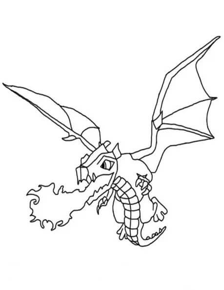 Desenhos de Exército Dragão para colorir