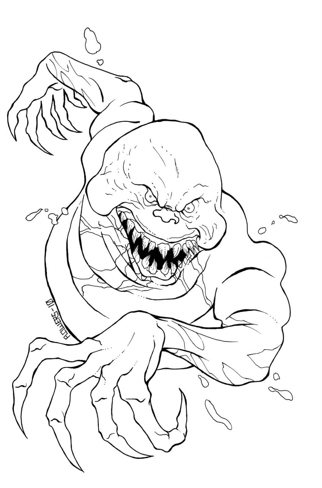 Desenhos de Fantasma Do Mal para colorir
