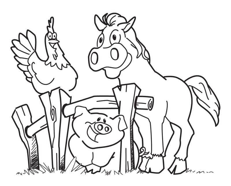 Desenhos de Fazenda McDonald's para colorir