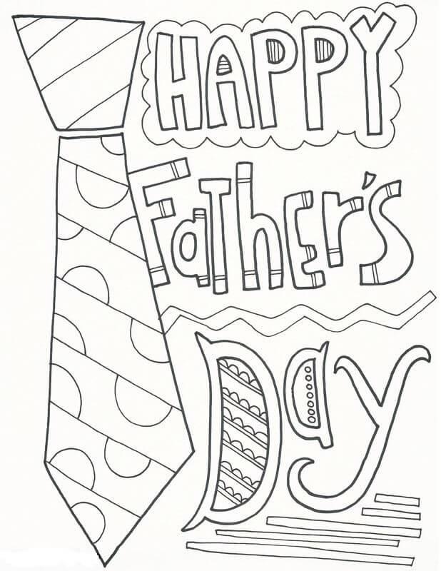 Desenhos de Feliz Dia Dos Pais para colorir