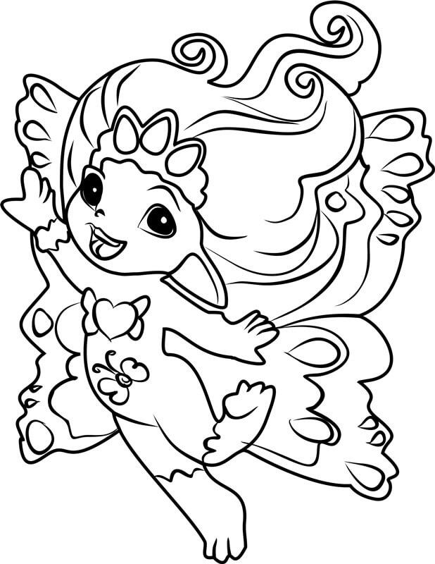 Desenhos de Feliz Princesa Crystella para colorir