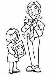 Desenhos de Filha Dá Uma Foto Para O Pai para colorir