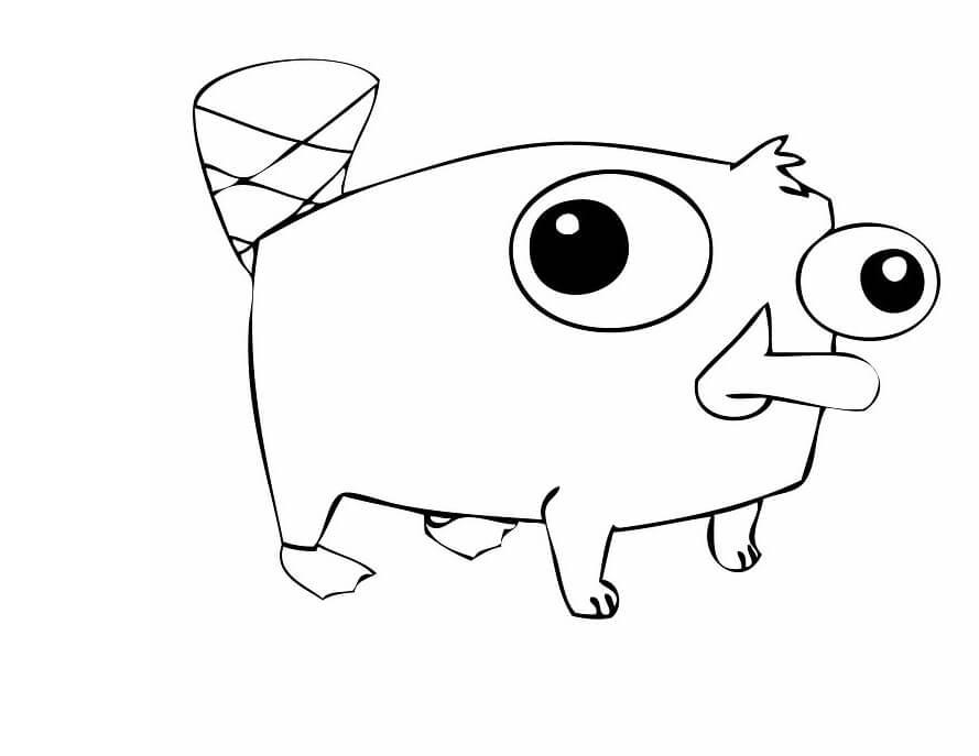 Desenhos de Fofo Perry para colorir