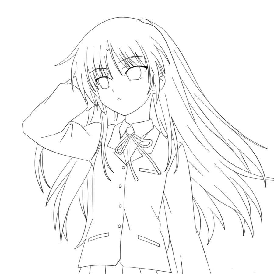 Desenhos de Garota Anime Legal para colorir