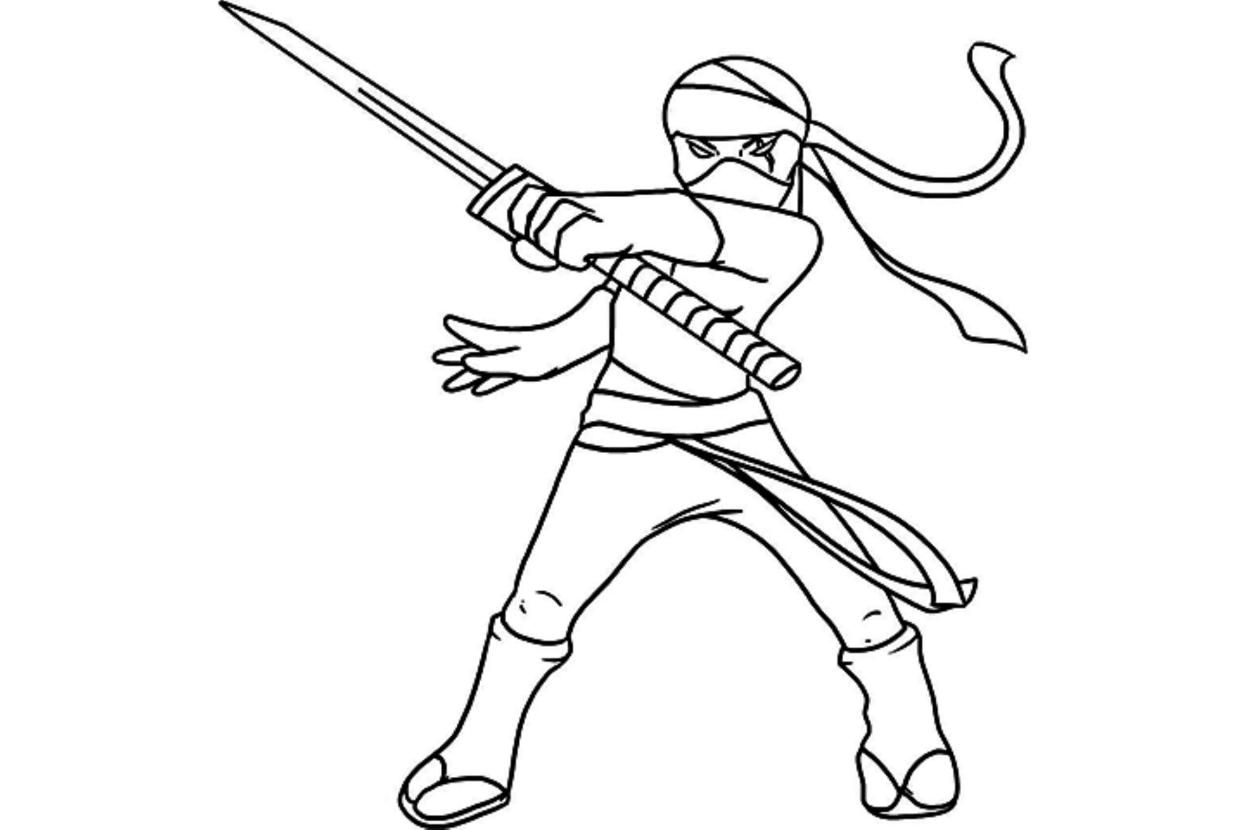Desenhos de Garota Ninja para colorir