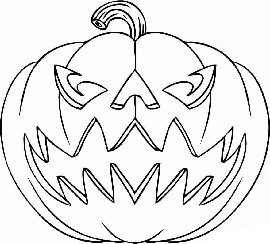 Desenhos de Gordo Jack o' Lantern para colorir