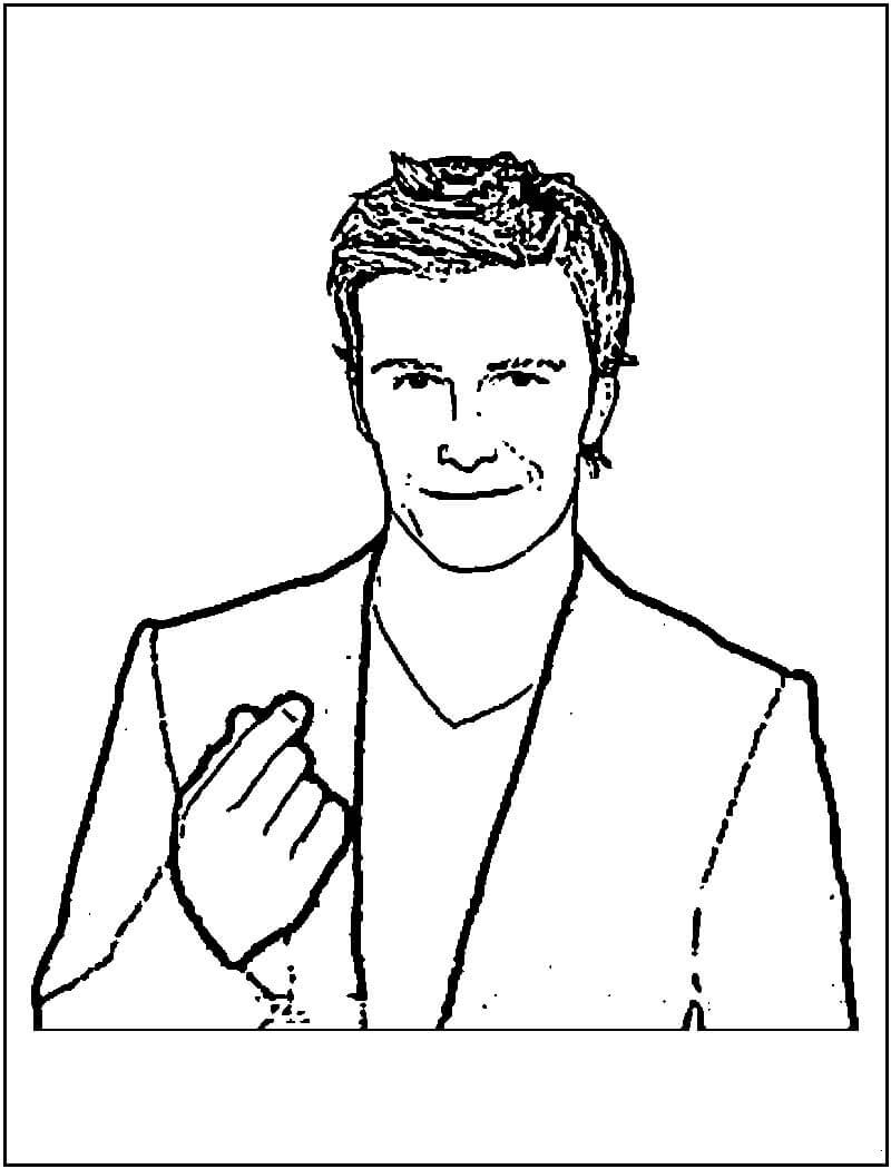 David Beckham para Colorir