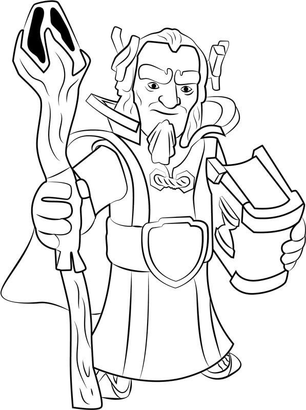 Desenhos de Grande Guardião Sorrindo para colorir