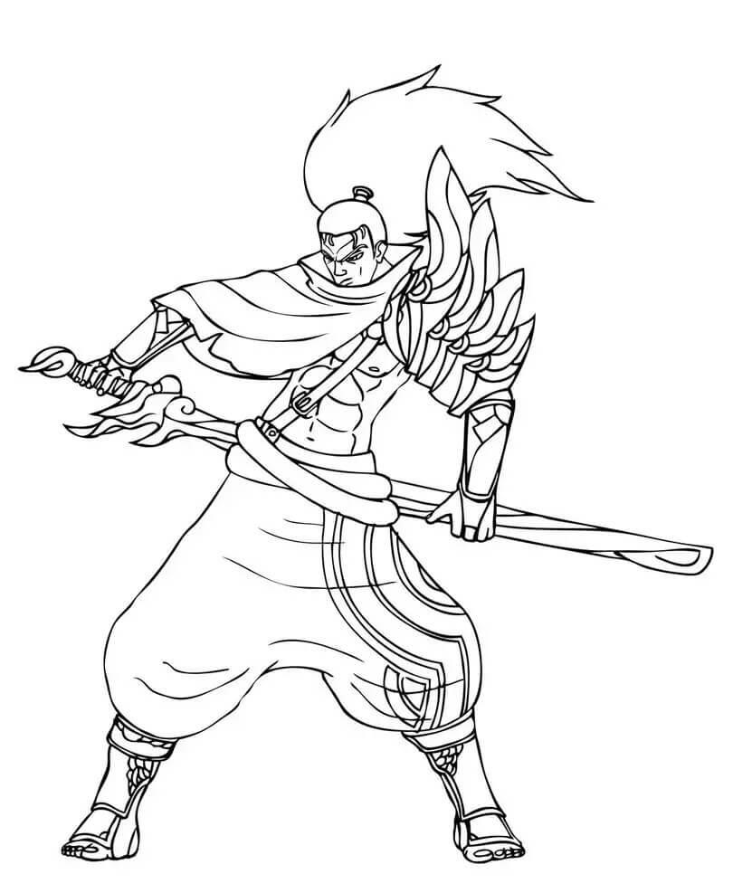 Desenhos de Grande Yasuo para colorir