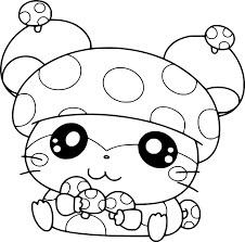 Desenhos de Hamster De Cogumelo para colorir