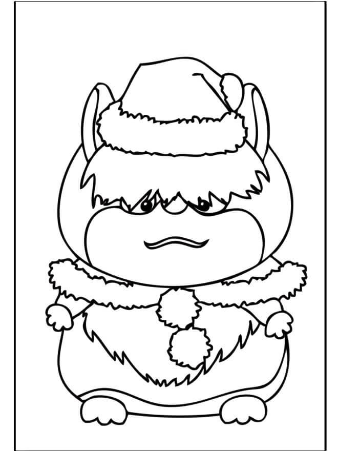 Desenhos de Hamster De Natal para colorir