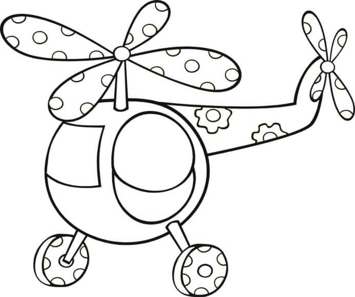 Desenhos de Helicóptero De Brinquedo para colorir