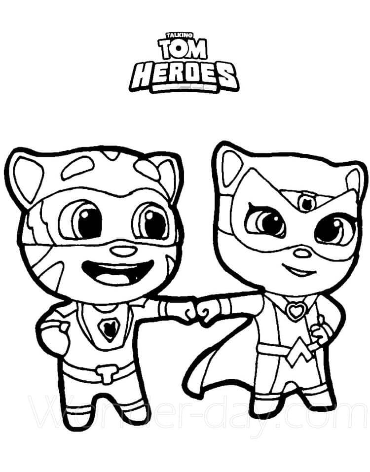 Desenhos de Herói Tom E Angela para colorir