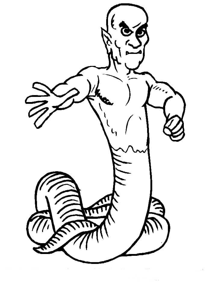 Desenhos de Homem Cobra Assustador para colorir
