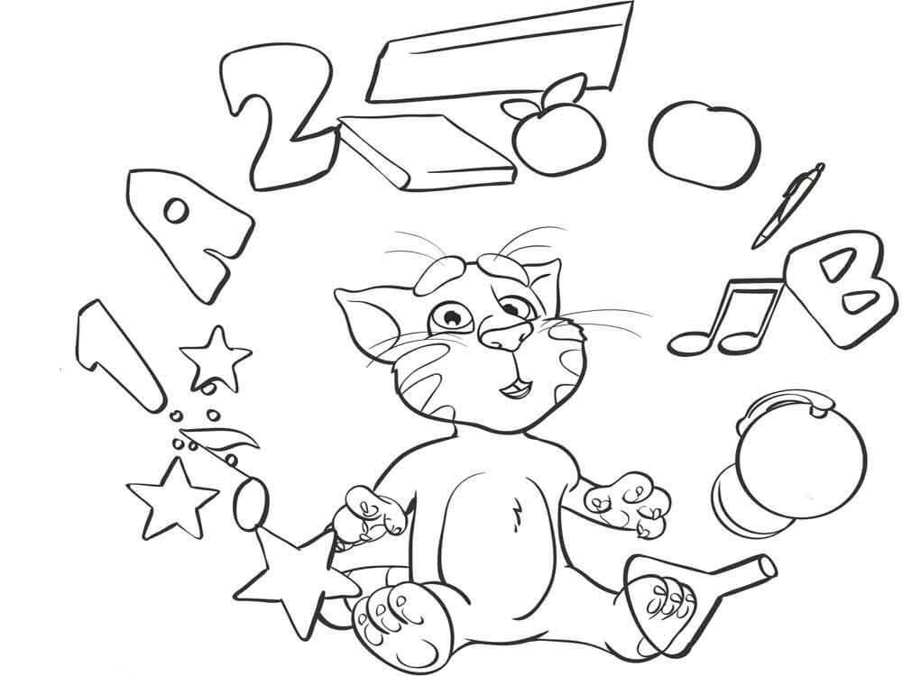 Desenhos de Hora De Aprender Tom Estúpido para colorir