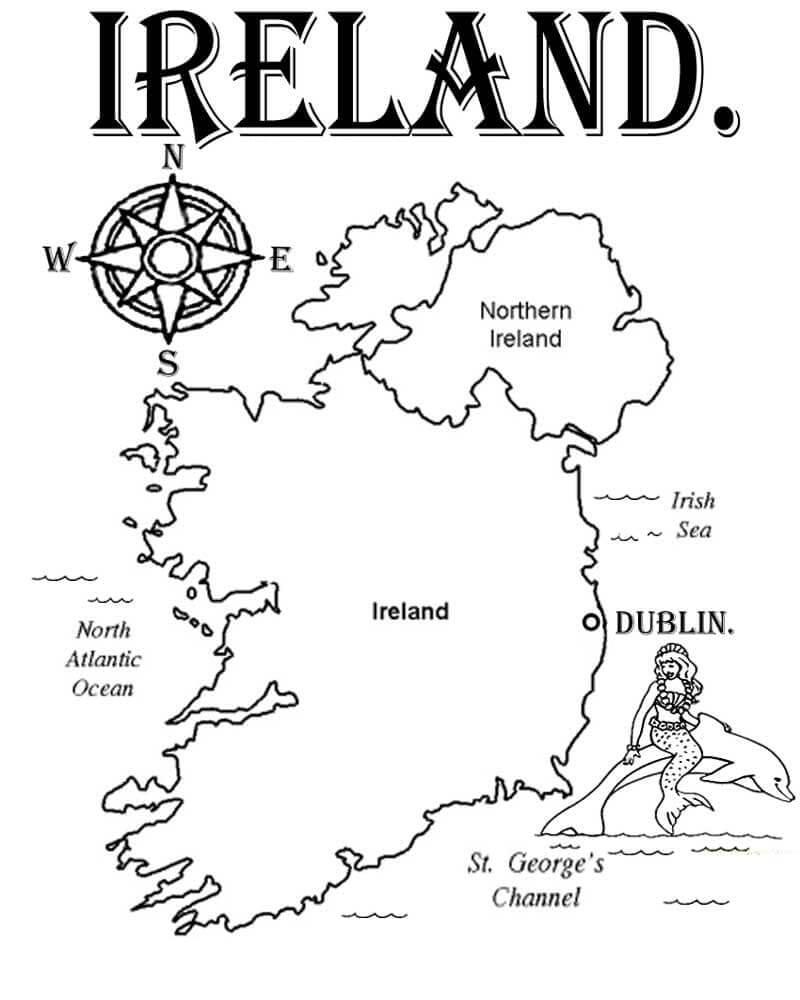 Ireland Mapa