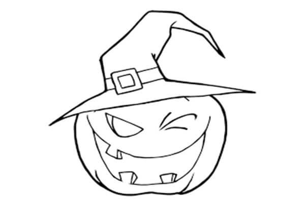 Desenhos de Jack o' Lantern Bruxa para colorir