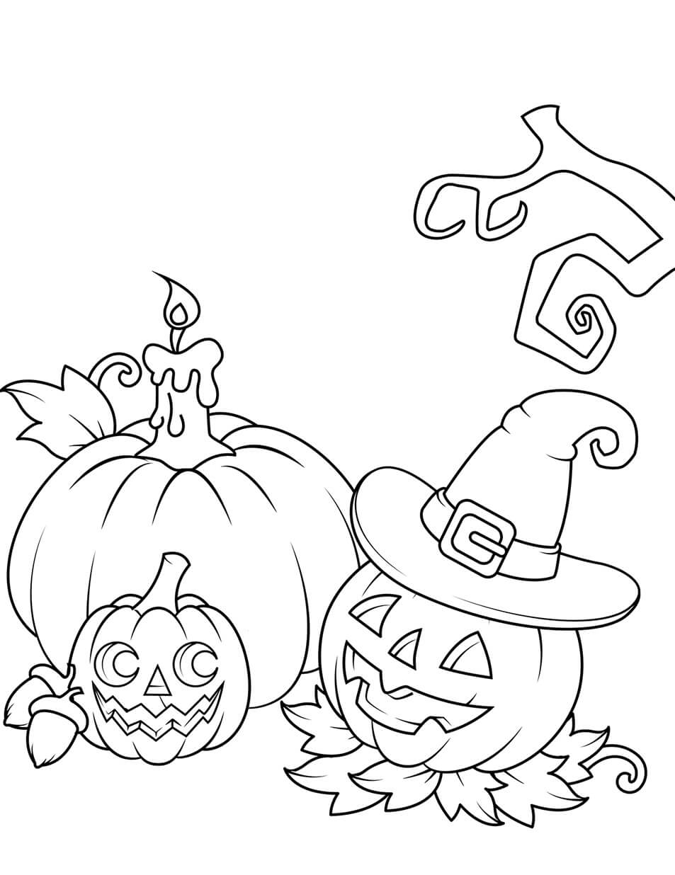 Desenhos de Jack o 'Lantern E Abóbora para colorir