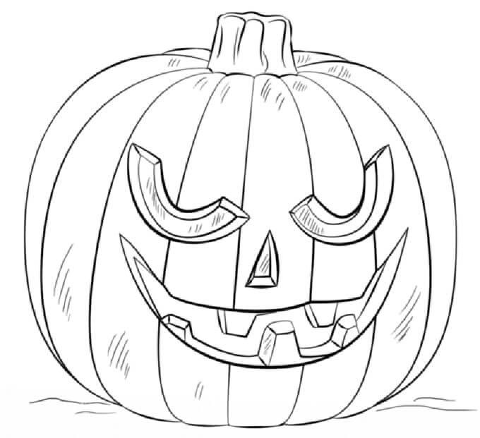 Desenhos de Jack o 'Lantern Engraçado para colorir