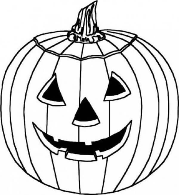 Desenhos de Jack o' Lantern Feliz para colorir