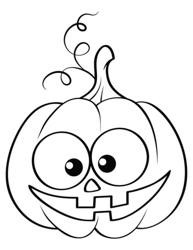 Desenhos de Jack o 'Lantern Fofo para colorir