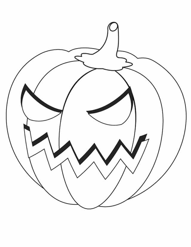 Desenhos de Jack o 'Lantern Irritado para colorir