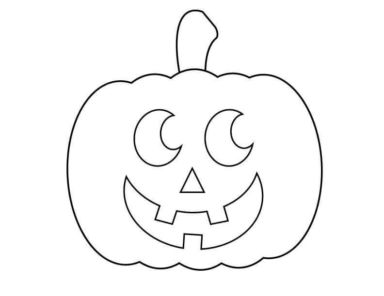 Desenhos de Jack o 'Lantern Sorrindo para colorir