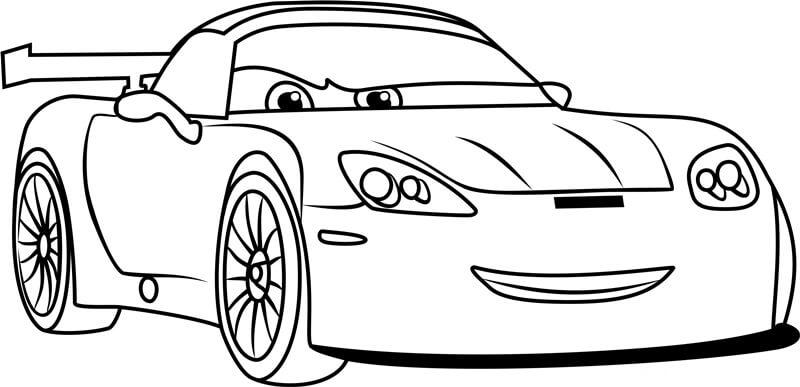Desenhos de Jeff Gorvette Do Carros 3 para colorir