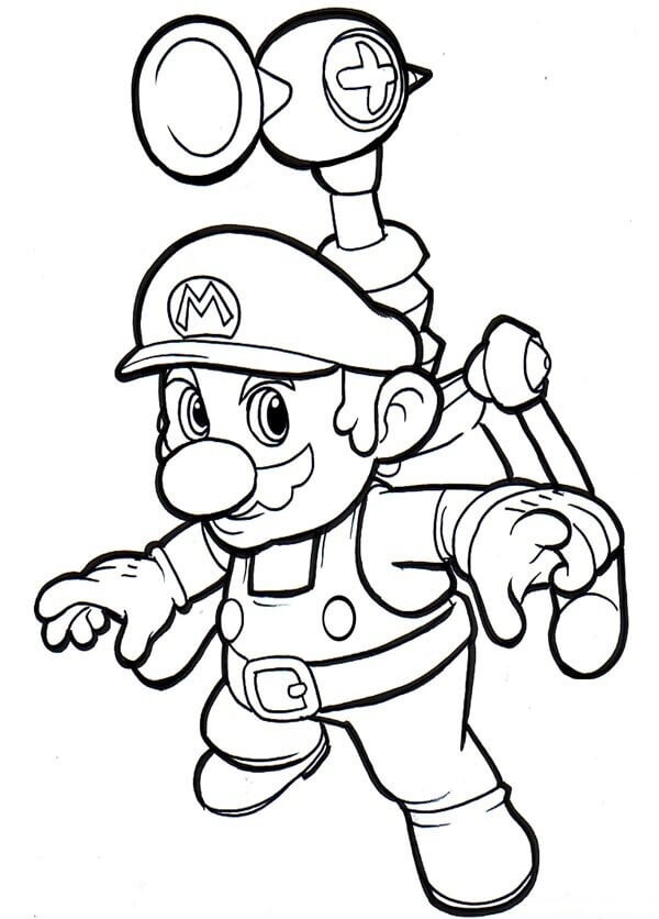 Desenhos de Jogo Super Mario para colorir