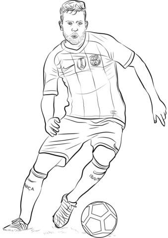 Desenhos de Jordi Alba para Colorir