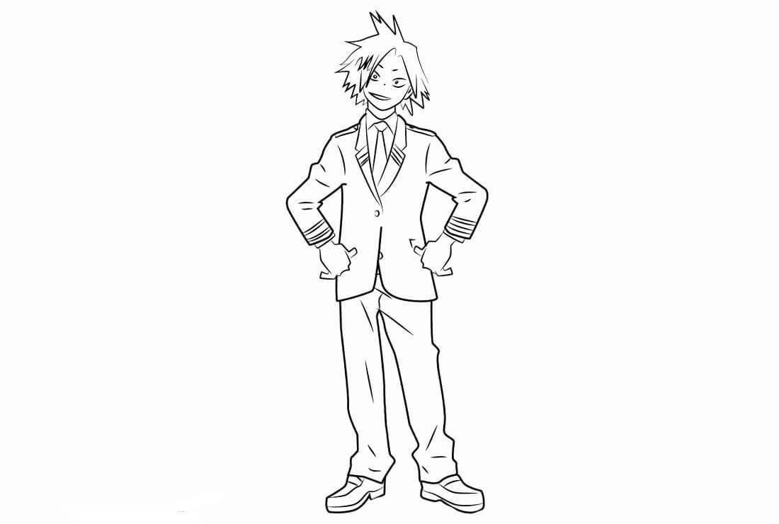 Desenhos de Kaminari Denki Sorridente para colorir