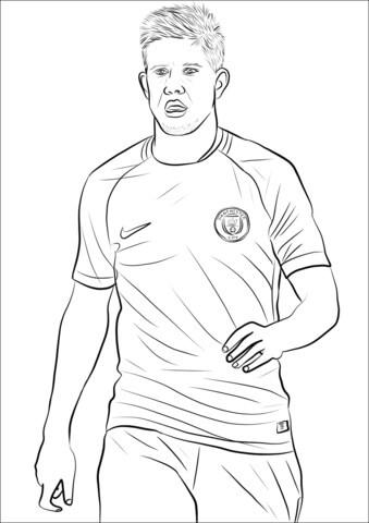 Desenhos de Kevin De Bruyne para Colorir