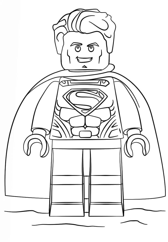 Desenhos de Lego DC Super Homen para colorir