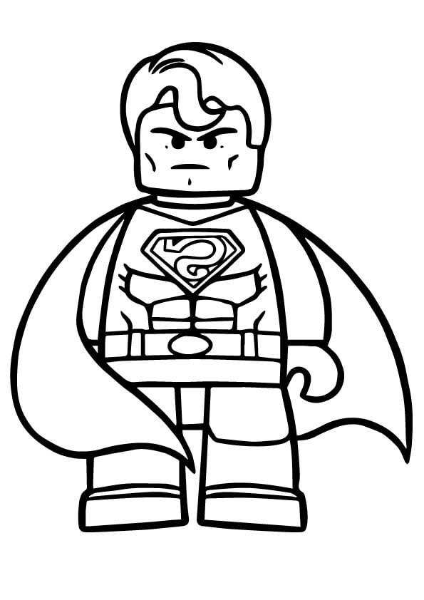 Desenhos de Lego Super Homen para colorir