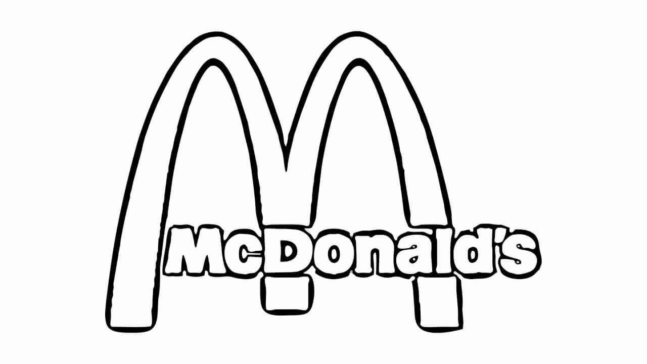 Desenhos de Logotipo Do McDonald para colorir