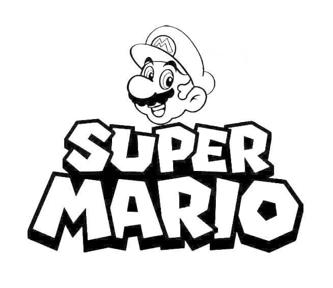 Desenhos de Logotipo Do Super Mario para colorir
