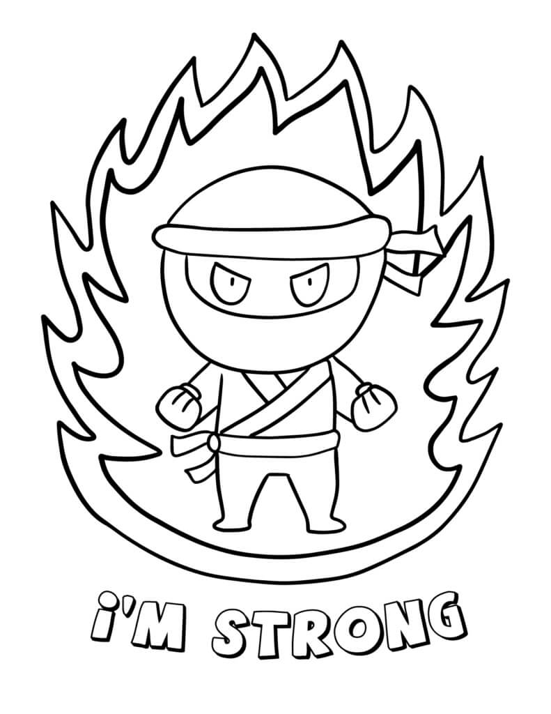 Desenhos de Logotipo Ninja para colorir