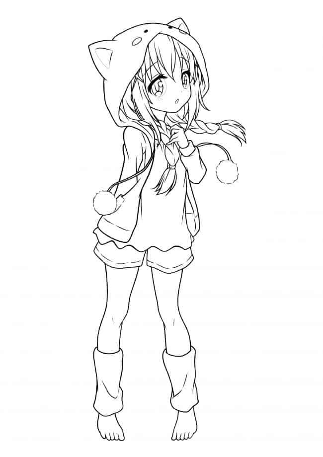 Desenhos de Loli Fofa para colorir