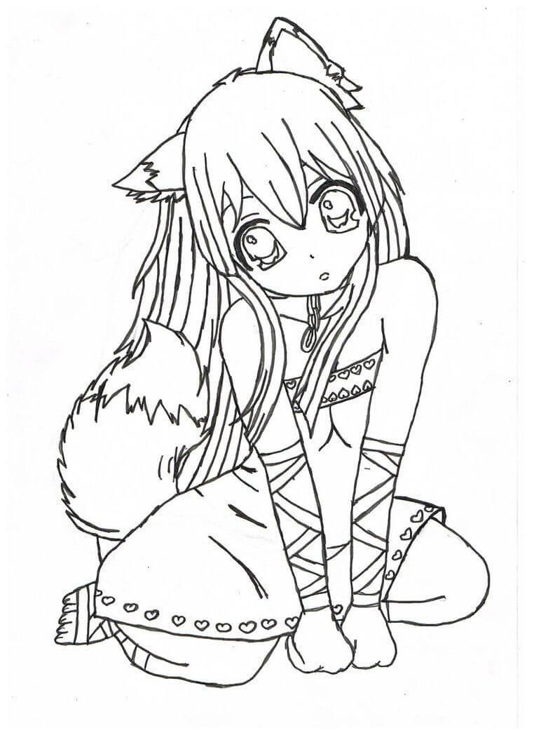 Desenhos de Loli Sentada para colorir