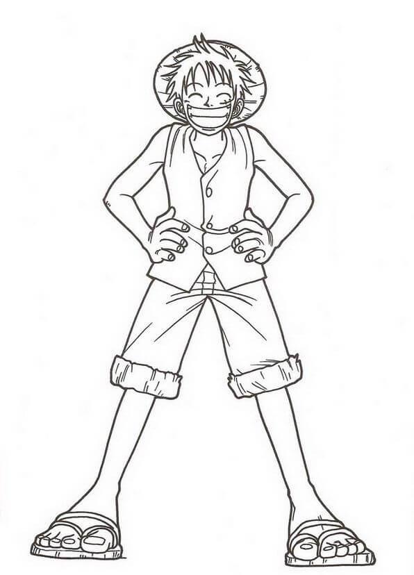 Desenhos de Luffy Engraçado para colorir