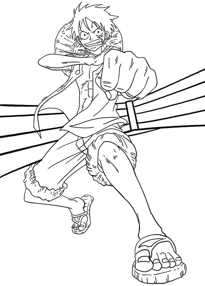 Desenhos de Luffy Gomu Gomu No Pi Syl para colorir