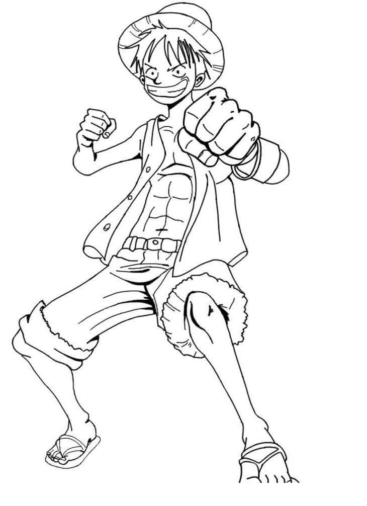 Desenhos de Luffy Sorrindo para colorir