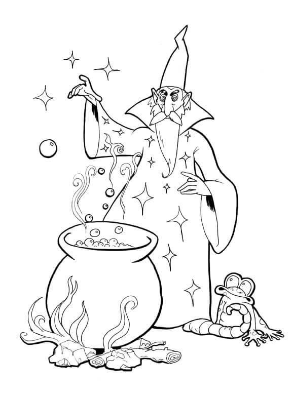 Desenhos de Mago Kitchen Medicine para colorir