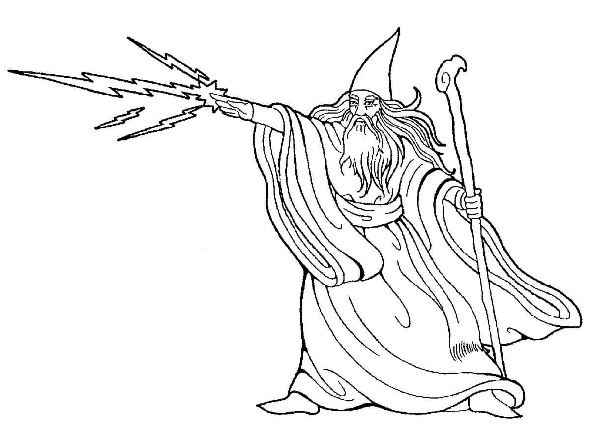 Desenhos de Mago Relâmpago para colorir