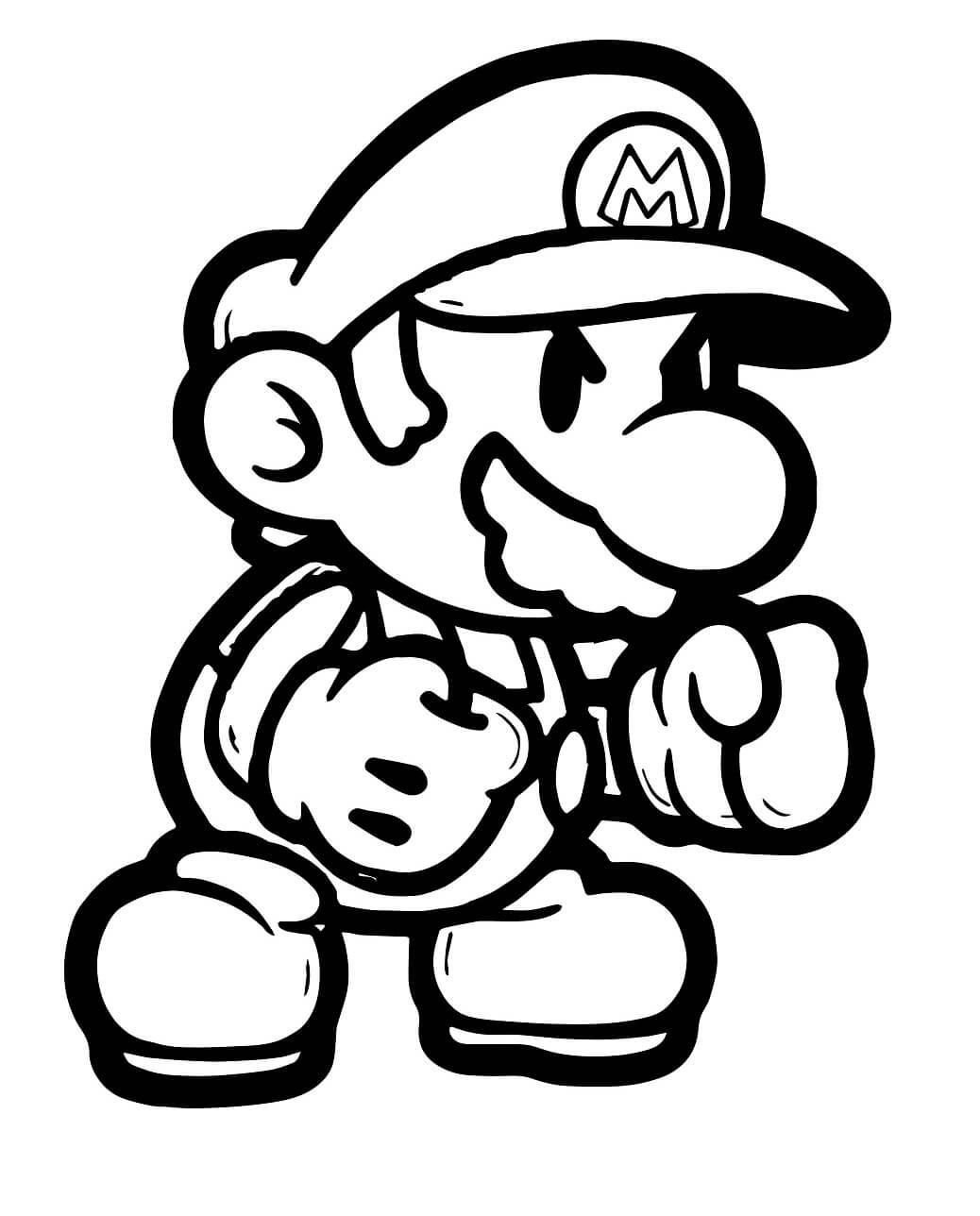 Desenhos de Mario Pontapé Boxe para colorir