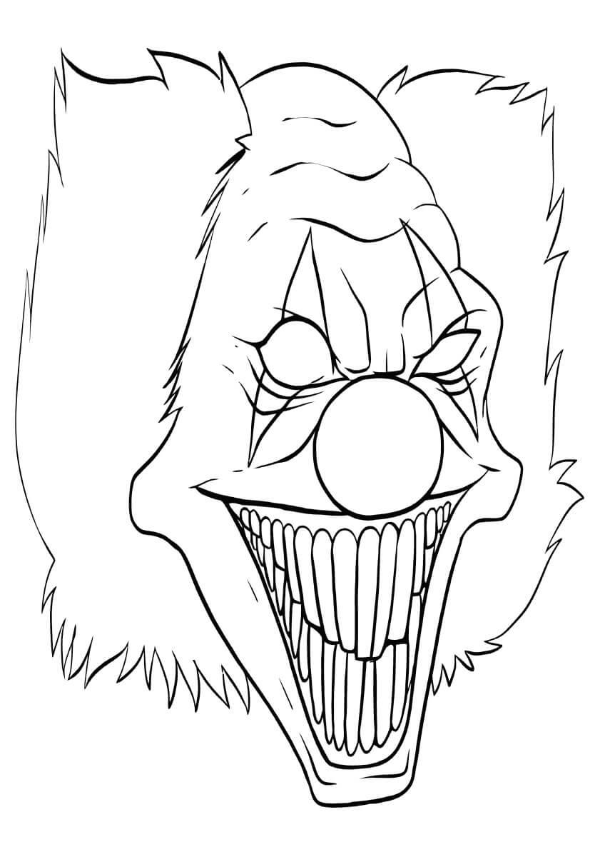 Desenhos de Máscara Assustadora para colorir