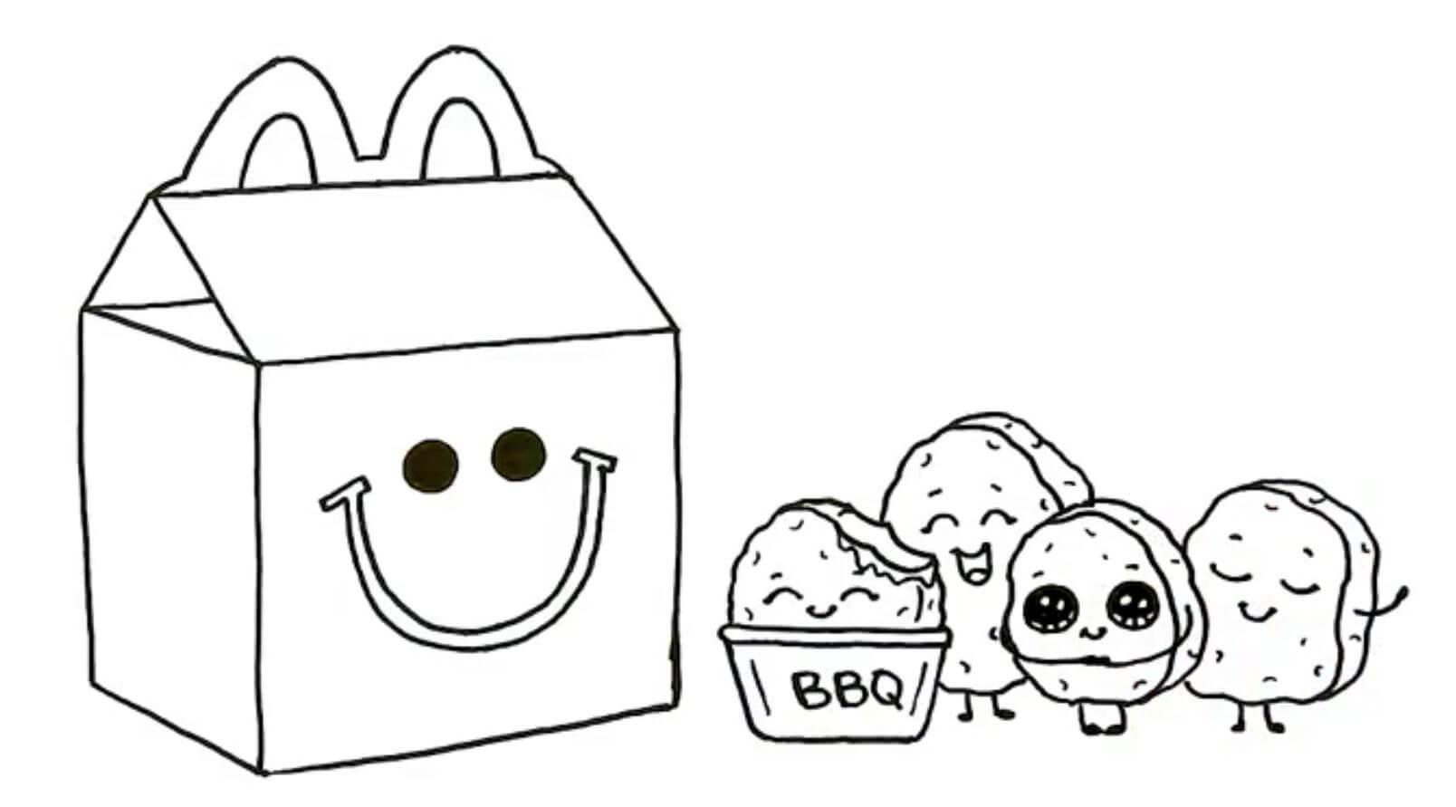 Desenhos de McDonald Caixinha Feliz para colorir