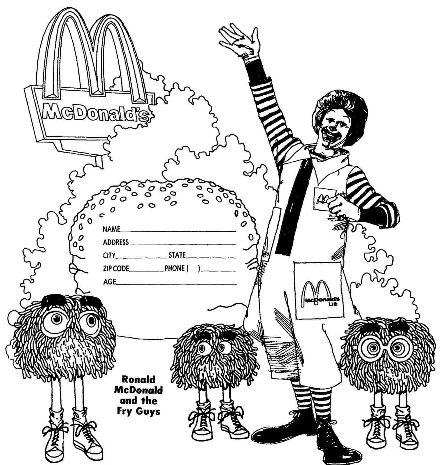 Desenhos de McDonald Desenhos Animados para colorir