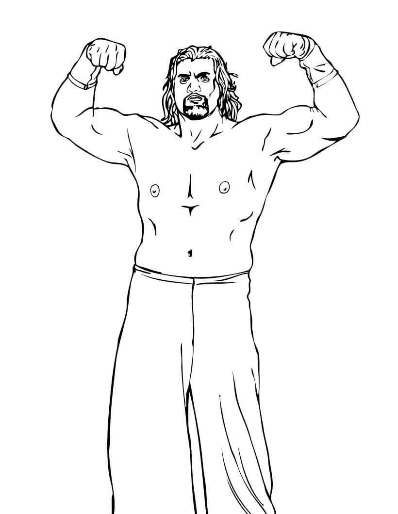 Desenhos de Melhor Wrestling Forte WWE para colorir